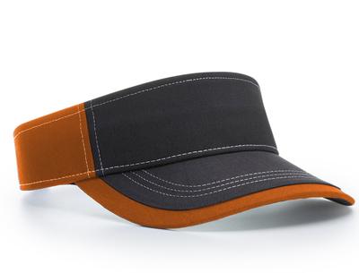 Richardson 775 Charcoal W/ Contrast Stitching Sun Visor | Wholesale Blank Caps & Hats | CapWholesalers