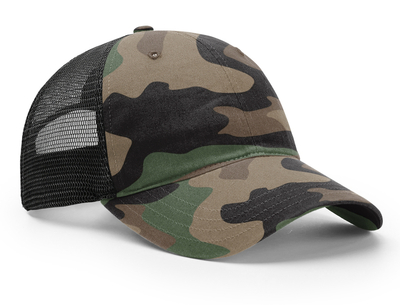 49345303 Richardson Garment Relaxed Washed Printed Trucker | Trucker Mesh Caps