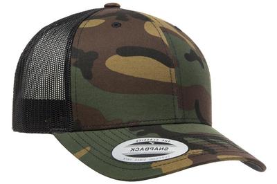 Retro Yupoong Trucker Camo Camouflage Caps Camo Caps