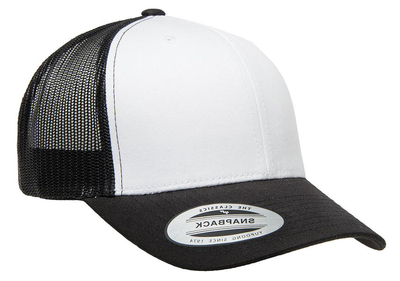 Yupoong 6 Panel Trucker White Front | Wholesale Blank Caps & Hats | CapWholesalers