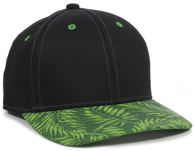 Outdoor 6 Panel Tropical Leaf Cotton Twill Cap | Wholesale Caps & Hats From Cap Wholesalers
