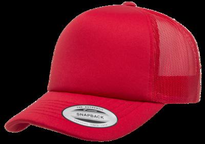 Flexfit Curved Visor Foam Trucker   Wholesale Blank Caps & Hats   CapWholesalers