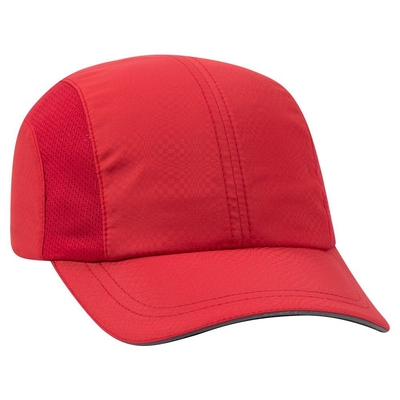 Otto Six Panel Textured Polyester Reflective Sandwich Running Cap ... f54bc944f98