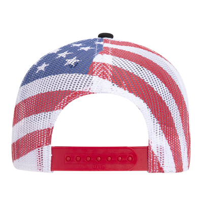 Otto American Flag Mesh Back Cotton Twill 6 Panel Low Profile | Wholesale Blank Caps & Hats | CapWholesalers