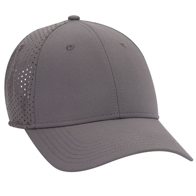 UPF 50+ Cool Comfort Stretchable Knit Perforated Back 6 Panel Low Profile   6 PANEL BASEBALL