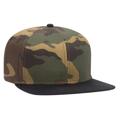 Otto Snap 6 Panel Pro Style Camouflage Cotton Blend Twill Snap Back | 6 PANEL BASEBALL