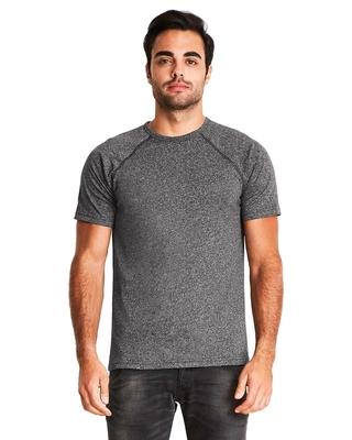 Next Level Mens Mock Twist Short-Sleeve Raglan T-Shirt   Mens Short Sleeve Tee Shirts