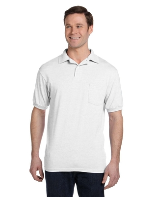 Hanes Adult 5.2 oz., 50/50 EcoSmart® Jersey Pocket Polo | Alpha/Broder Apparel