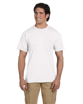 Gildan Adult 5.5 oz., 50/50 Pocket T-Shirt | Mens Short Sleeve Tee Shirts