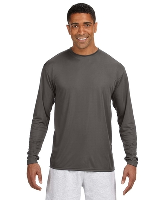 A4 Mens Cooling Performance Long Sleeve T-Shirt   Performance Athletic Shirts