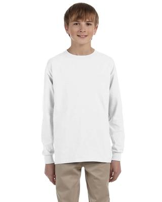 Jerzees Youth 5.6 oz. DRI-POWER ACTIVE Long Sleeve T-Shirt | Alpha/Broder Apparel