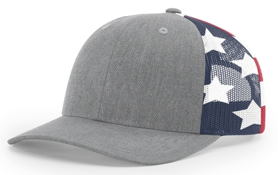 Richardson 112 6 Panel Trucker Printed Stars & Stripes Mesh Back Cap | CapWholesalers