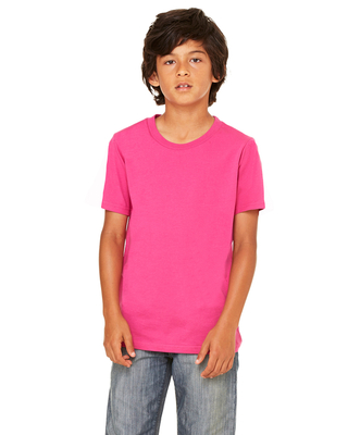 Bella + Canvas Youth Jersey Short-Sleeve T-Shirt | Kids Short Sleeve Tees