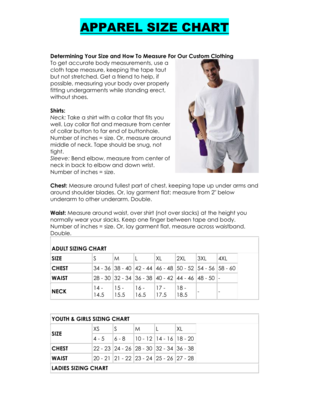 Apparel Size Charts image