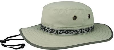 Mega Juniper Taslon UV Sun Hat with Jacquard Ribbon | Mega