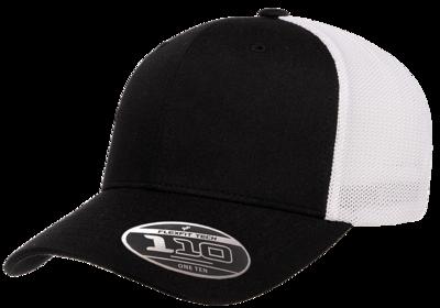 Flexfit Caps: 110RT Recycled 2 Tone Trucker Mesh Cap -Wholesale Blank Hats