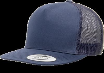Yupoong Flat Bill Classic 5 Panel Trucker Cap   Wholesale Blank Caps & Hats   CapWholesalers