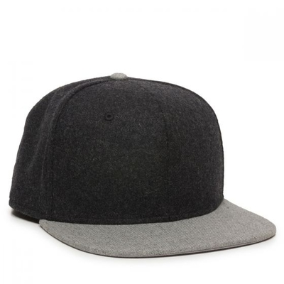 Outdoor Classic 6 Panel Snap Back Flat Bill | Wholesale Blank Caps & Hats | CapWholesalers