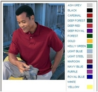 Image Stedman By Hanes 5.5 oz 50/50 Jersey Knit Polo