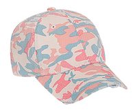 Image Otto-Youth Camouflage Garment Washed Cotton Twill Distressed Visor Pro Style