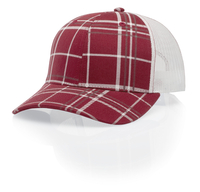 Image Richardson Trucker Mesh: Plaid Twill/Mesh Back