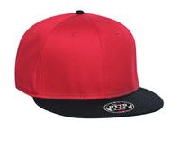 Image Cotton Twill Flat Visor Snapback Pro Style Caps