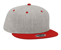 Image Otto-Heather Wool Blend Flat Visor Pro Style Snapback