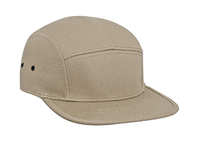 Image Cotton Twill Square Flat Visor with Binding Edge Five Panel Camper