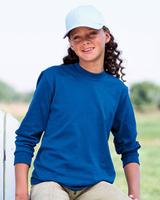 Image Blank Youth Shirts : Jerzees 5.6 oz 50/50 Long-Sleeve Tee