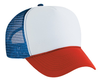 Image Polyester Foam Front 5-Panel Pro Style Mesh Back
