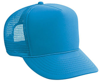 Image Polyester Foam Front High Crown Golf Mesh Back Caps