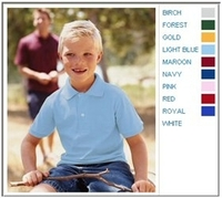 Image Jerzees 5.6 oz 50/50 Jersey Knit Youth Polo with SpotShield Stain Resistance
