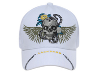 Image Otto-Skull with Wings & Rhinestones Mesh Back Caps