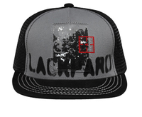 Image Otto-Distressed Patch Print Design Mesh Back Flat Visor