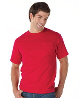 Image Hanes 6.1 oz Ringspun Cotton Beefy-T with Pocket