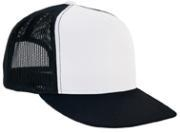 Image Yupoong Flat Billed White Front Trucker Mesh