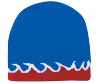 Image Otto Flame Design Acrylic Knit 8 Reversible Beanie
