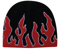 Image Flame Design Acrylic Knit 8 Beanie