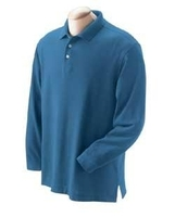 Image Devon & Jones Men's Pima Piqué Long-Sleeve Polo