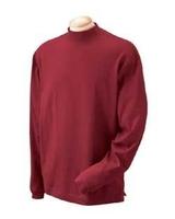 Image Devon & Jones Unisex Sueded Cotton Jersey Mock Turtleneck