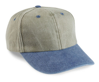 Image Cobra-6-Panel Mid-Profile Washed Cotton Twill Cap with Extended Bill
