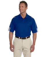 Image Adidas Golf Men's ClimaLite® 3-Stripes Cuff Polo