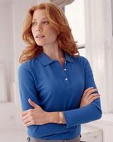 Image Devon & Jones Ladies Pique Long-Sleeve Polo