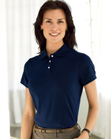 Image Devon & Jones Ladies Solid Pima Polo