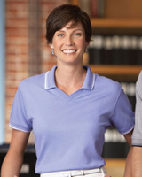 Image Ladies Tipped Pima Interlock Polo