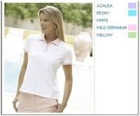 Image Devon & Jones Pink Stretch Tennis Polo