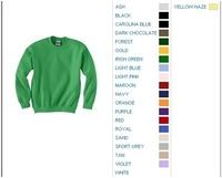Image Blank Youth Shirts : Gildan 7.75 oz 50/50 Blend Crewneck