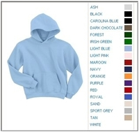 Image Blank Shirts : Gildan 7.75 oz 50/50 Blend Youth Hooded Sweatshirt