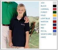 Image Gildan 5.6 oz 50/50 Youth Jersey Polo