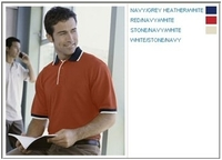Image Harriton Cotton Pique Mens Colorblock Polo